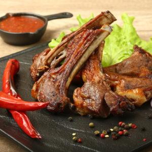 Шашлык из корейки баранины (каре)